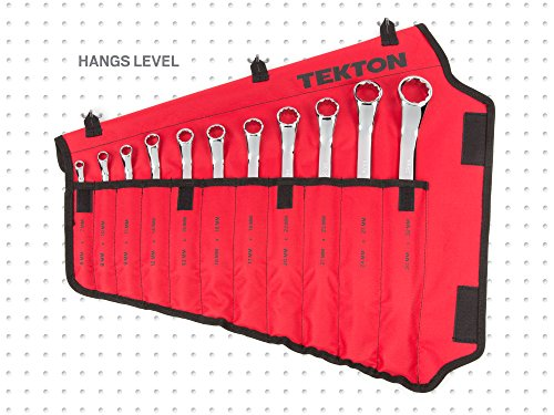 TEKTON 45-Degree Offset Box End Wrench Set with Roll-up Storage Pouch, Metric, 6 mm- 32 mm, 11-Piece | WBE24511 by TEKTON (Image #10)