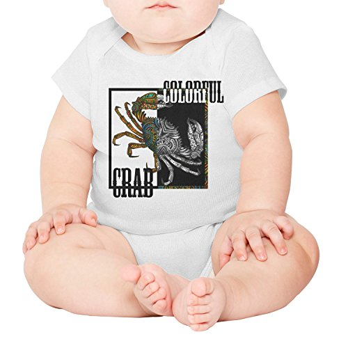 xs4tdg563kfu Colorful Crab Tattoos Crabs Snow Crab Baby Short-Sleeved Climbing Clothing Casual