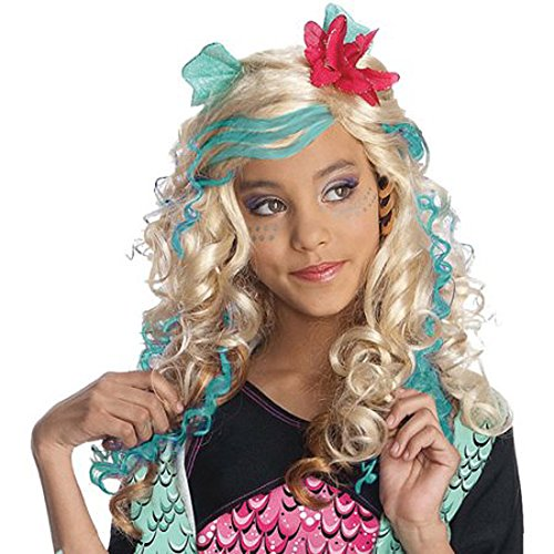 [Monster High Lagoona Blue Child Wig with Attached Ears Halloween Accessory] (Lagoona Costumes)
