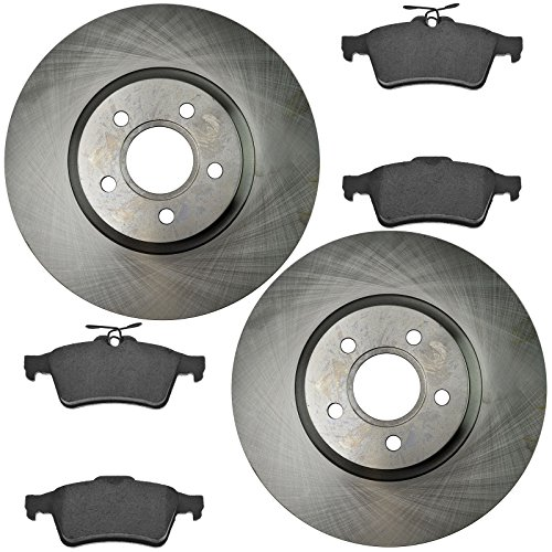 Rear Ceramic Disc Brake Pad & Rotor Kit Set Direct Fit for C-Max Escape ()