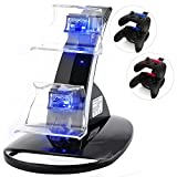 Xbox One Docking Station, CBSKY Xbox One, Xbox One S Charging Dock, Dual Controller Charger Kit for Xbox One, One S Console w LED Light, Black(Need the batteries as the picture)