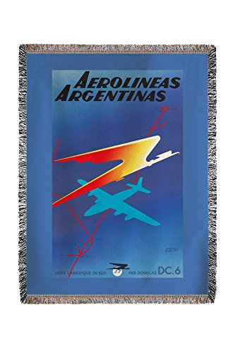 aerolineas-argentinas-vintage-poster-artist-colin-france-c-1950-60x80-woven-chenille-yarn-blanket