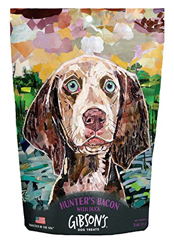 Gibson's Hunter's Bacon with Duck - Human Grade USA Soft Jerky Dog Treats, 3 oz (Duck Bacon)
