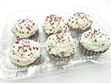 6 Cell Clear Locking Hinged Cupcake/muffin/tart/bakery Containers #CPC-46 (300)