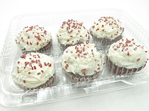 6 Cell Clear Locking Hinged Cupcake/muffin/tart/bakery Containers #CPC-46 (150) by Inline Plastics