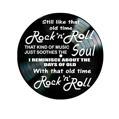 - Old Time Rock N Roll song lyrics by Bob Seger on a Vinyl Record Album Wall Decor