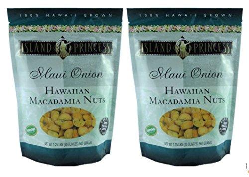 Maui Onion Hawaiian Macadamia Nuts by Island Princess (2 - 20 oz - Maui J