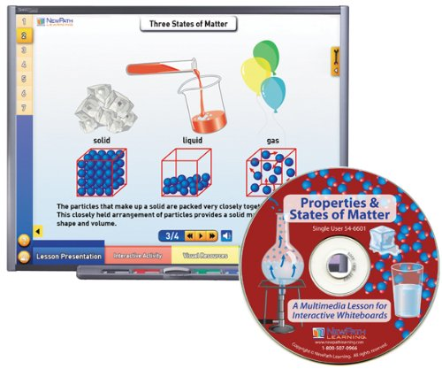 NewPath Learning Properties and States of Matter Multimedia Lesson, Site License/Single Building, Grade 6-10