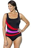 Lalagen Women's Splice One Piece Bikini Plus Size Sport Swimsuit Bathing Suit