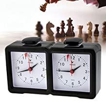 inkint Electric Chess Clock Silent Desk Analog Clock Electric Game Clock for Chess Competition with Large Screen