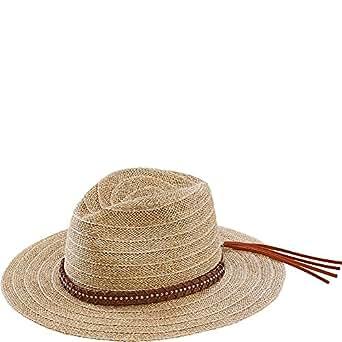 San Diego Hat Wide Brim Leather Studded Fedora