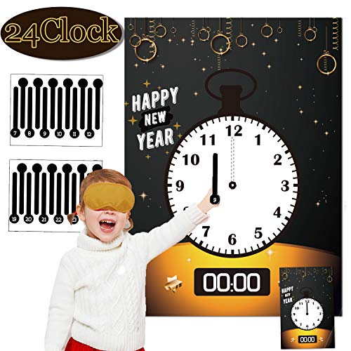 Funnlot New Years Eve Party Supplies 2020 New Years Decorations 2020 New Year Games New Years Activities Clock Games For Kids New Year Kids Activities Fun New Years Eve Game Happy New Year Party Decor