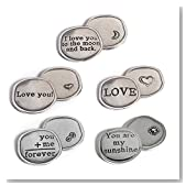 Crosby & Taylor Love Collection Pewter Sentiment Coins, Set of 5