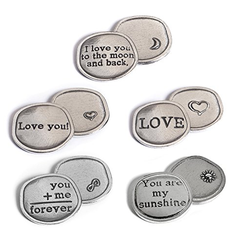 Love Token (Crosby & Taylor Love Collection Pewter Sentiment Coins, Set of 5)