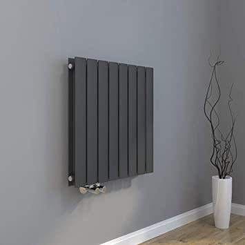 Design Heizkörper 630x616mm Doppellagig Badezimmer/Wohnraum Seitenanschluss  Antrazit Flachheizkörper Badheizkörper Radiator
