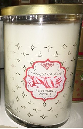 Yankee Candle Large 2 Wick PEPPERMINT DIVINITY Decorative Tumbler Candle by Yankee Candle