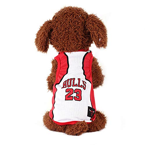 Wasan NBA Dog Clothes Jersey Lakers Basketball Costume Shirt Vest for Pet Puppy -