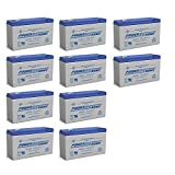 Powersonic PS-6100 6V 12AH Battery Replaces 10Ah Enduring 3FM10 T2, 3-FM-10 T2-10 Pack
