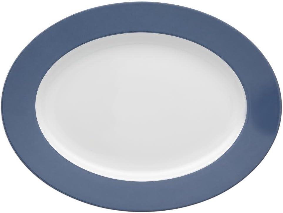 56,00 /€ Rosenthal Thomas Sunny Day Nordic Blue Platte 33 cm SP UVP