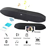 Sound Bar Bluetooth Speaker Wireless Wired Stereo Bass Loud Hifi 10W Speaker With Mic Support TF Card USB Disk FM Radio with Phone Stand for TV Computer Smartphones MP3 Player