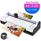 Ejoyous 3 in 1 Laminator with Paper Trimmer & Corner Rounder,A4 Thermal Laminating Machine with 2 Rollers System Quick Warm-up Laminating Speed, for Home Office School Use + Free Laminating Pouches