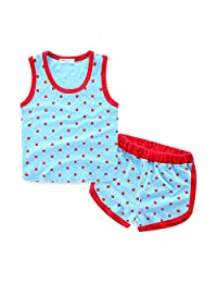 Mud Kingdom Polka Dot Vest Shorts Boys' Summer Sport Outfit