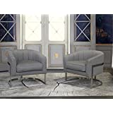 Armen Living LCPMCHGR Paloma Accent Chair, Grey