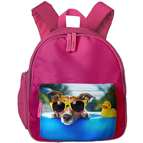 Children School Backpacks Kid's School Bags Duck Dog Sunglasses Student Bookbags For Boys - Biggest Sunglasses Dog