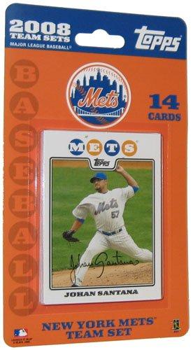 Topps MLB Baseball Cards 2008 New York Mets 14 Card Team Set