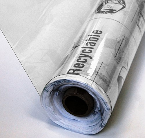 25 Yard Roll of Super Clear All Purpose Recyclable Vinyl - 4 Gauge 25 Yards x 54 Inches Extra Durable Perfect for Outdoor / Indoor Enclosures, Protective Furniture Covering and Tablecloths