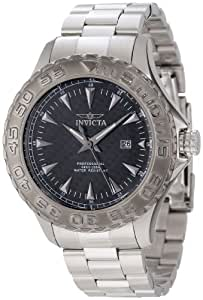 Invicta 12555 Pro Diver Ocean Ghost Black Carbon Fiber Dial Stainless Steel Watch for Men