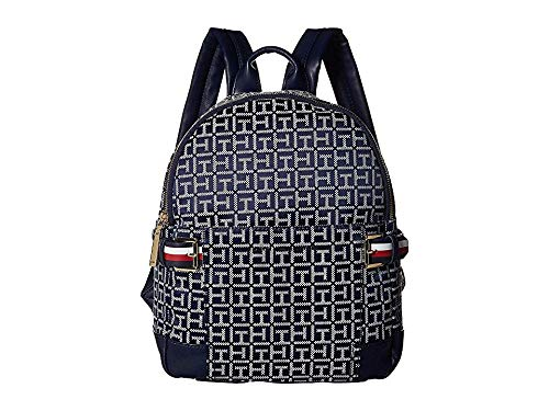 (Tommy Hilfiger Women's Meriden Backpack Navy/White One Size)