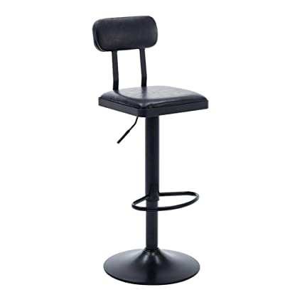 Furniture Iron Bar Chair European Bar Chair Raised And Lowered Stool Domestic Backrest Barstool Vintage Coffee Front Desk Chair
