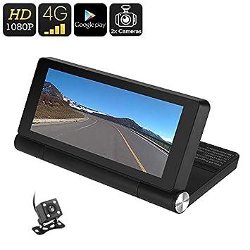 BW coche DVR – 1080P, Android OS, pantalla de 7 pulgadas, GPS,