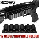 Tactical Weaver 6 Round 12 Gauge Shotshell Shotgun Carrier Shell Holder Mount Black