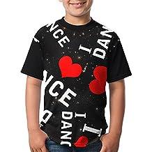 Hsmb Tshirt I Love Dance Heart Youth Girl Fashion Shirts Top Tees Short Sleeve Print T-Shirts