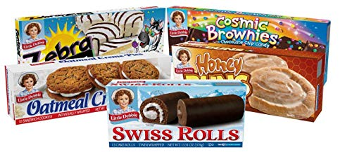 Little Debbie Variety Pack Oatmeal Creme Pies Buns Swiss Rolls Cosmic Brownies And Zebra Cakes Honey 1 Count Amazon Com Grocery Gourmet Food