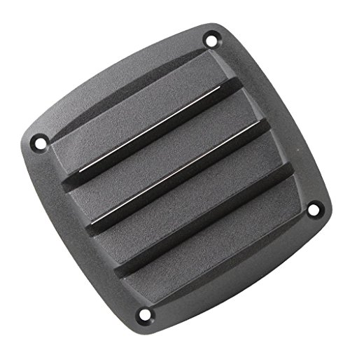 - D DOLITY New Black Plastic Louvered Vents Ventilation Marine Vent for 4 Inch Boat Parts