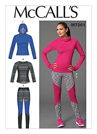 McCall \'s Damen Schnittmuster 7261 Sport Tops und Leggings + Gratis ...