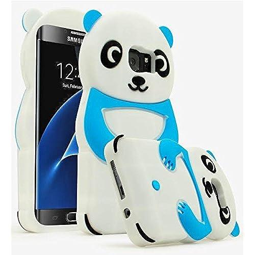 Galaxy S7 Edge Case, Bastex 3D Blue & White Silicone Panda Character Case Cover for Samsung Galaxy S7 Edge Sales