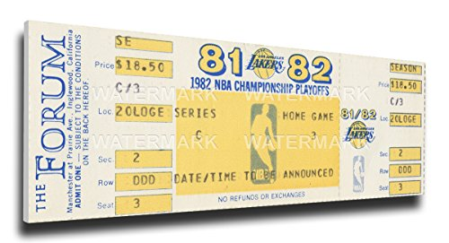 That's My Ticket 1982 NBA World Championship Series Mega Ticket Wall Decor, Los Angeles Lakers by That's My Ticket
