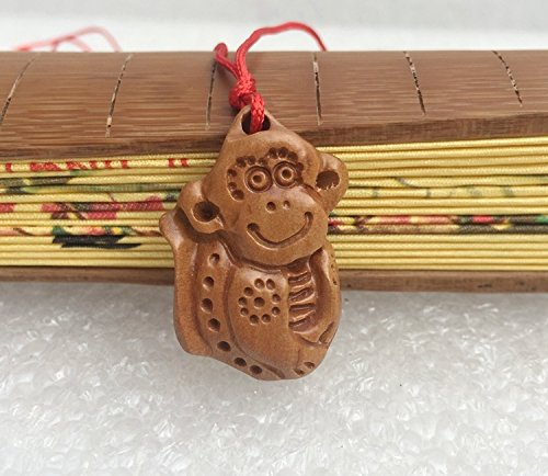 (usongs Open Wako Pure monkey necklace pendant mahogany zodiac Monkey's amulet lucky mascot)