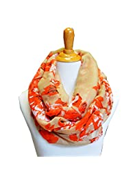 SCARF_TRADINGINC® Floral Light Weight X-large Infinity Scarf