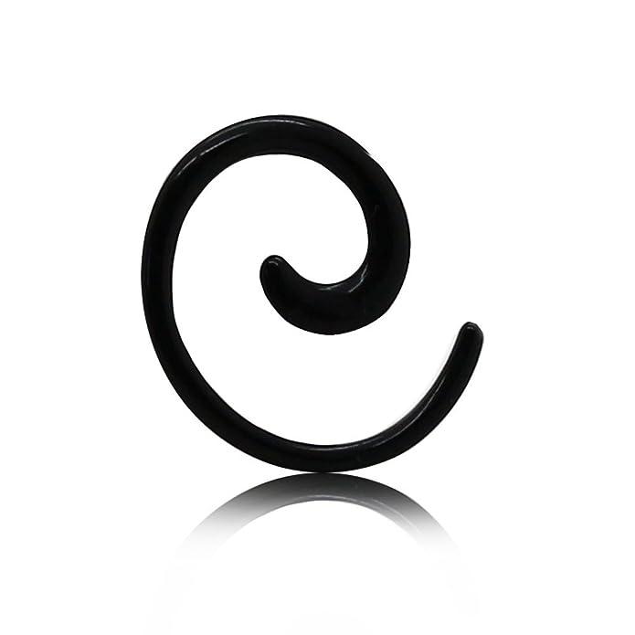 tumundo Espiral Set Dilitador Dilataciones Expansores Acrílico Plug Ear 1, 6mm-8mm Caracol Para Túnel Unisex Negro, Farbe2:Alle Größen/All Sizes: Amazon.es: ...