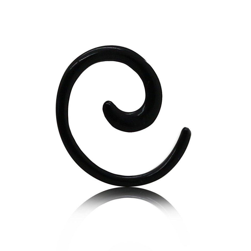 tumundo Espiral Set Dilitador Dilataciones Expansores Acrílico Plug Ear 1,6mm-8mm Caracol Para Túnel Unisex Negro, Farbe2:Alle Größen/All Sizes: Amazon.es: ...