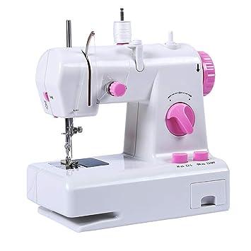 DULPLAY Portátil Electrónica Mini Máquina de Coser, Fácil de Usar Casa Máquina de la reparación Rápido Principiantes para Todos los Trabajos de ...