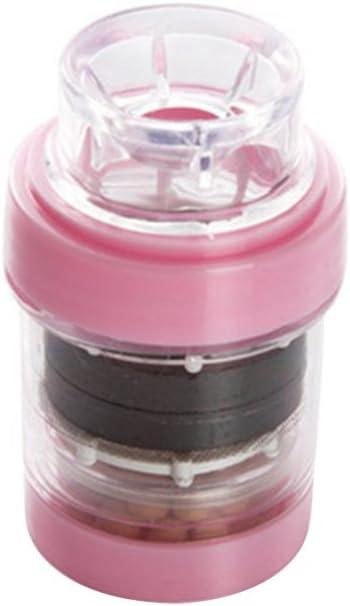 BESTONZON Purificador de agua activado cartucho de carbon grifo filtro limpiador y purificador (Rosa): Amazon.es: Hogar