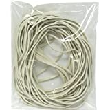 Extra Large 8 Inch White Big Postal Rubber Band - Pack of 30 Pieces