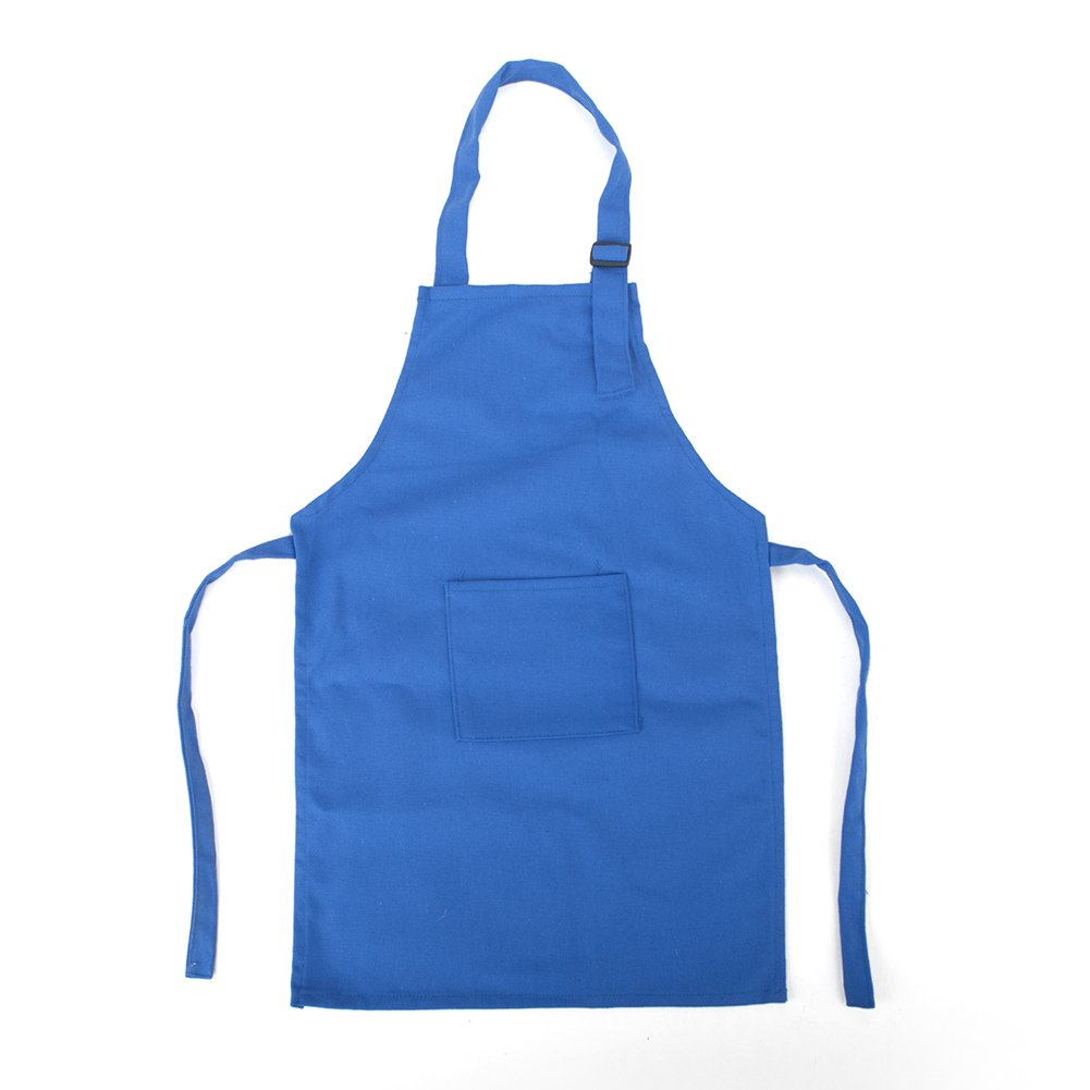 (50枚入り)Opromo 全 12 色 シンプル コットン キャンバス 子供用 エプロン 前 ポケット付き ブルー XL B017AR1XCO XL ブルー ブルー XL