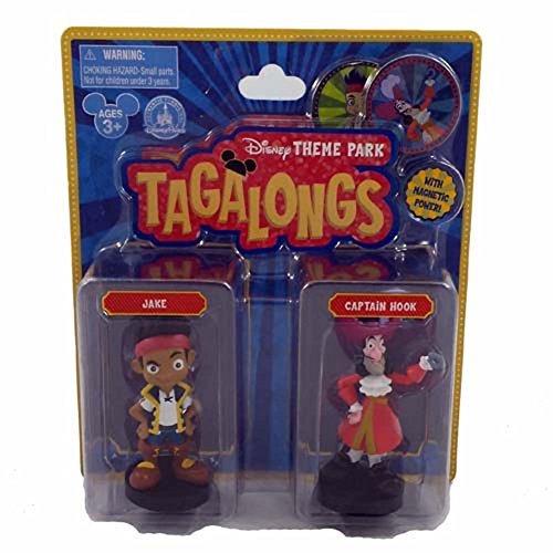 (Disney Parks Pirates Captain Hook Jake Tagalong Plastic Figurine Set of 2)